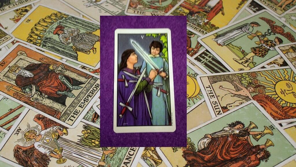 Carta de Tarot-El Cinco de Espadas