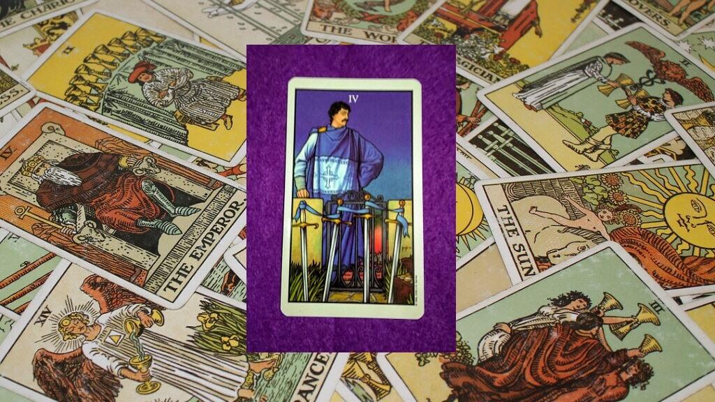 Carta de Tarot-El Cuatro de Espadas