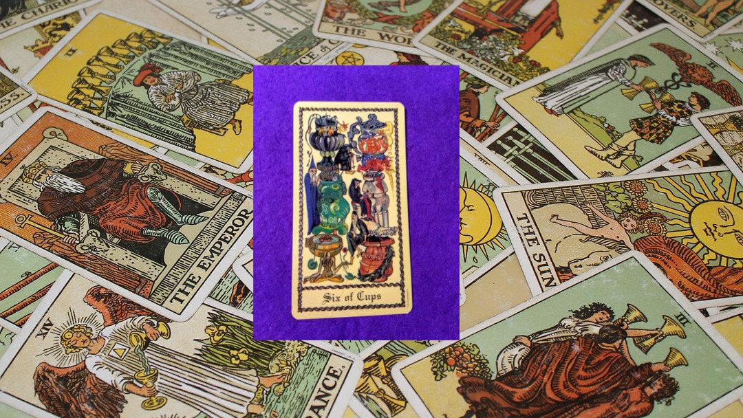 Carta de Tarot-El Seis de Copas