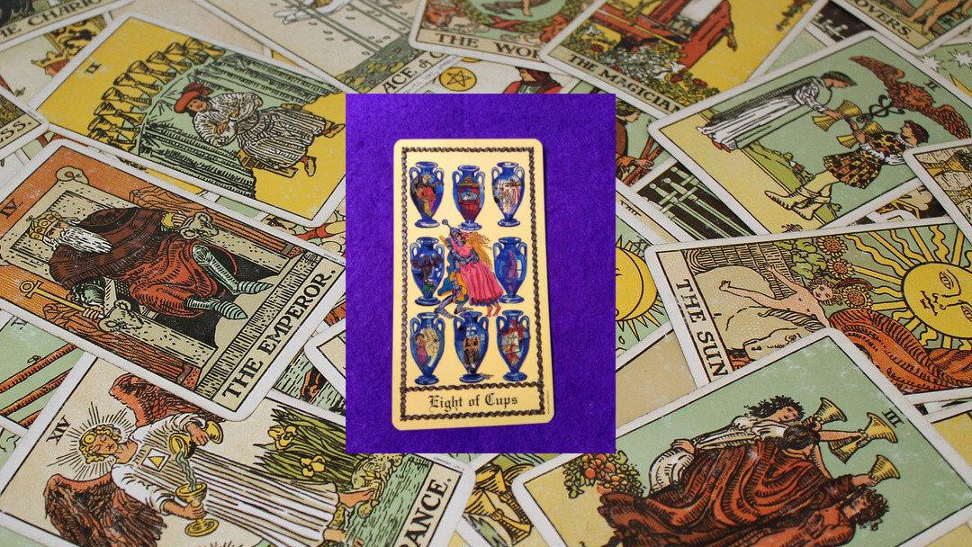 Carta de Tarot-El Ocho de Copas
