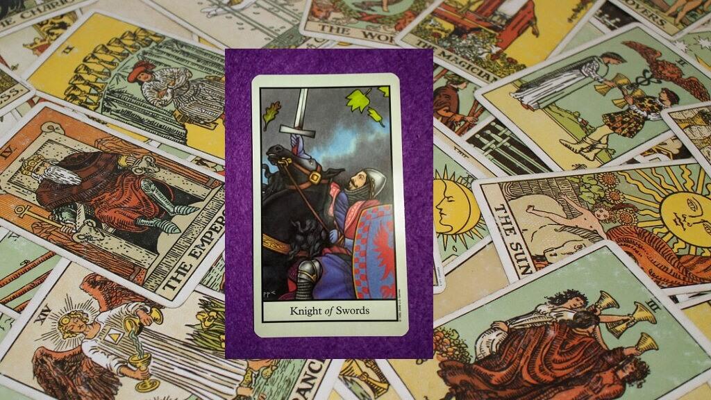 Carta de Tarot-El Caballo de Espadas