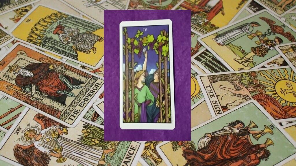 Carta de Tarot-El Cuatro de Bastos
