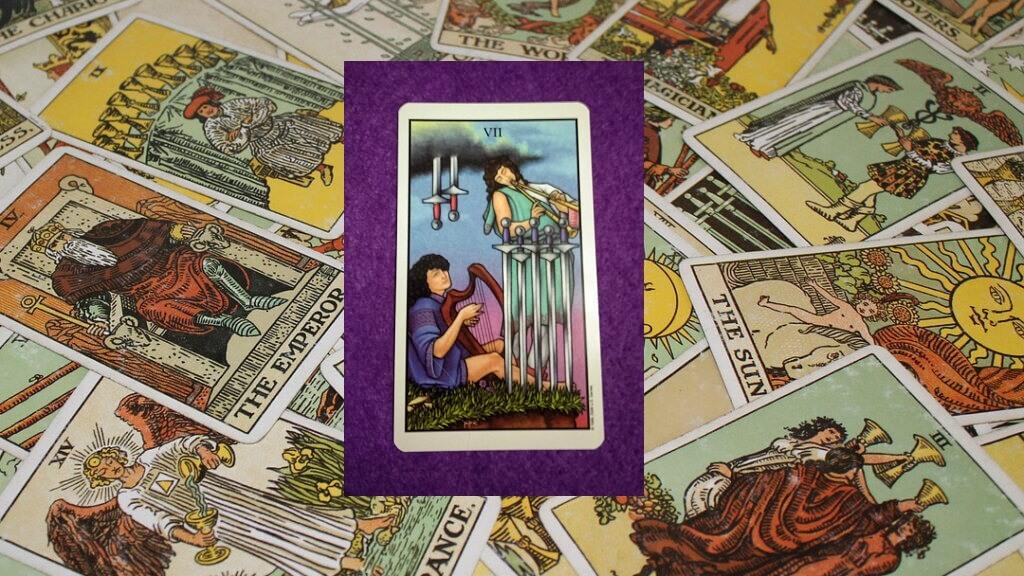 Carta de Tarot-El Siete de Espadas