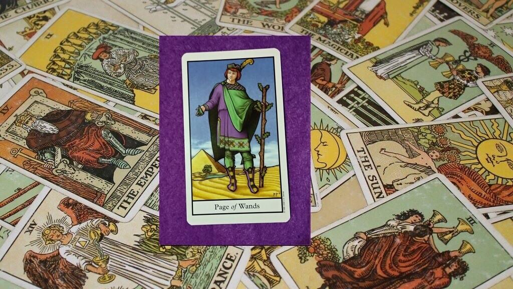 Carta de Tarot-La Sota de Bastos