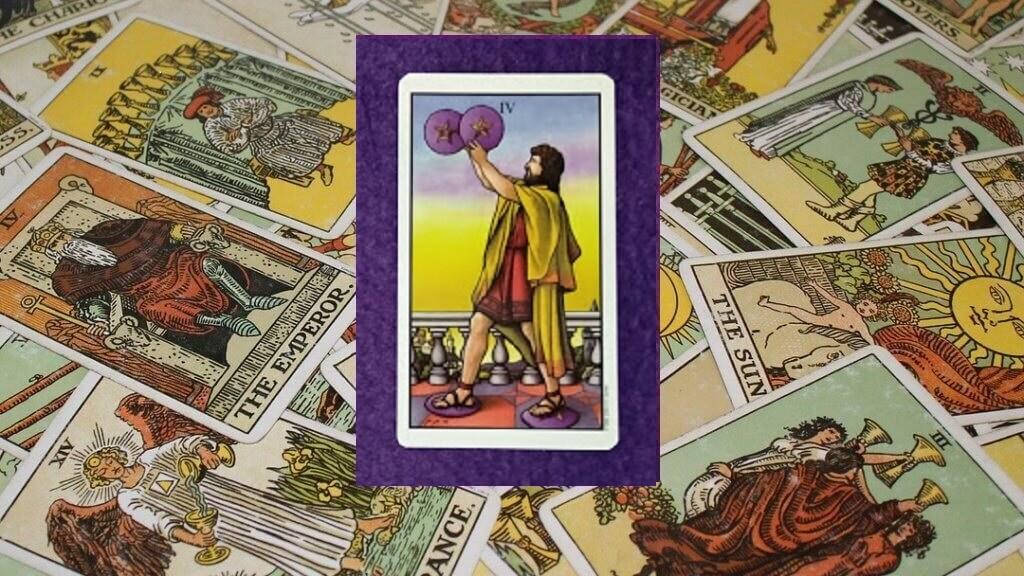 Carta de Tarot-El Cuatro de Oros