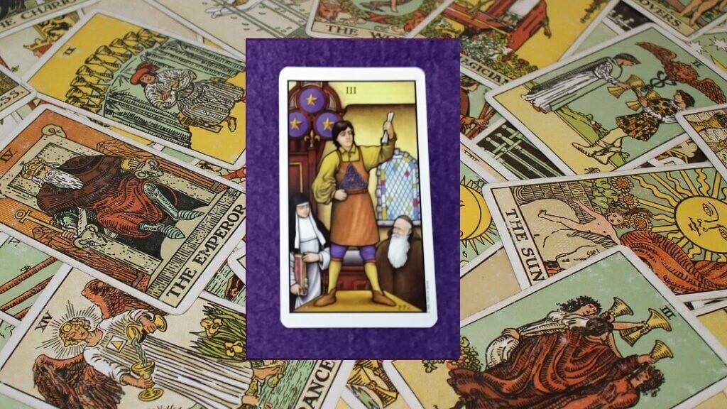Carta de Tarot-El Tres de Oros