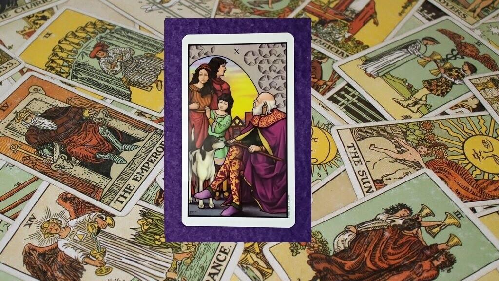 Carta de Tarot-El Diez de Oros