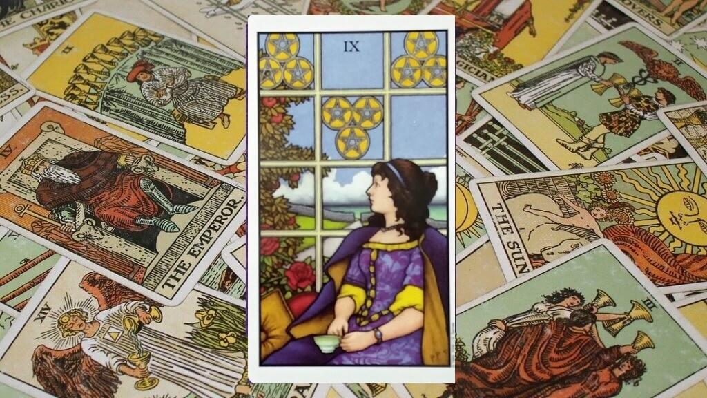 Carta de Tarot-El Nueve de Oros