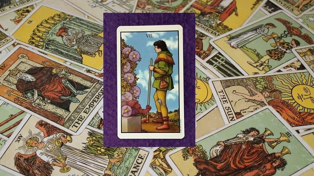 Carta de Tarot-El Siete de Oros