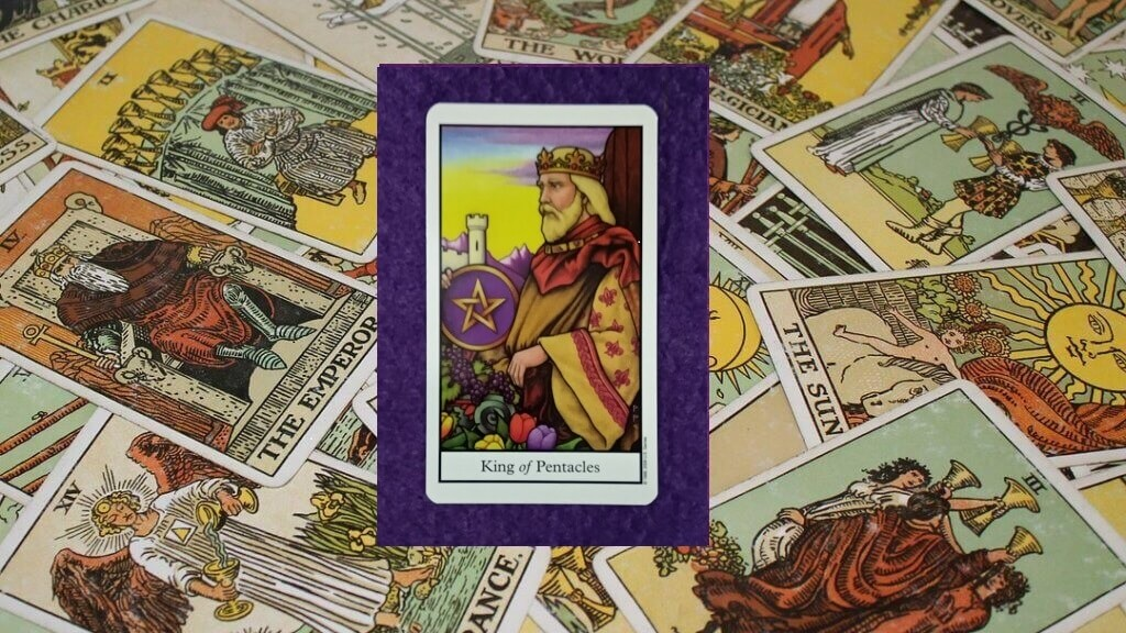 Carta de Tarot-El Rey de Oros