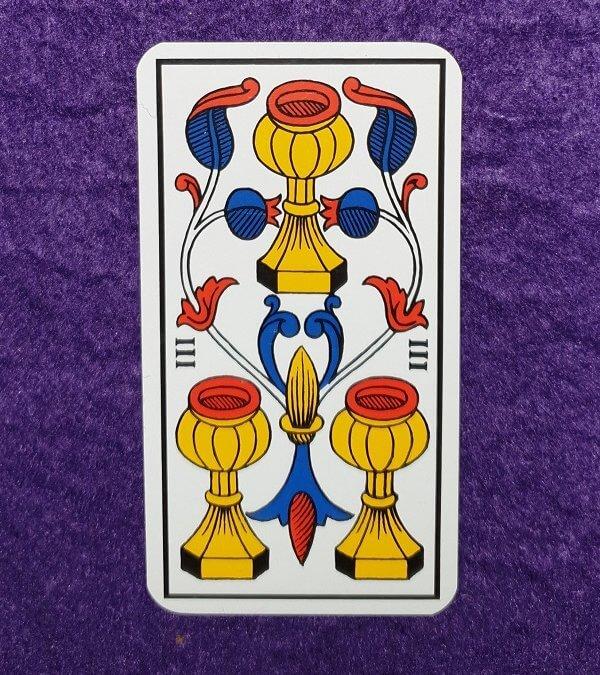 Lectura de TAROT-El 3 de Copas