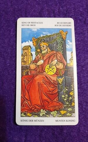Lectura de TAROT-El Rey de Oros