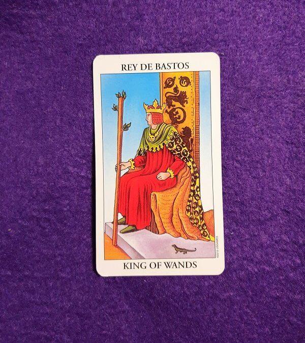 Lectura de TAROT-El Rey de Bastos